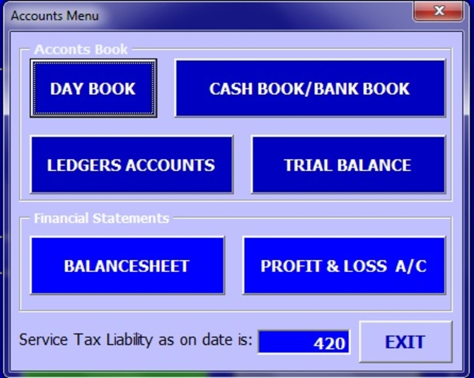 Excel Accounting System Template