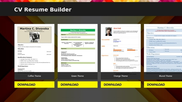 CV Resume Builder - Free Download