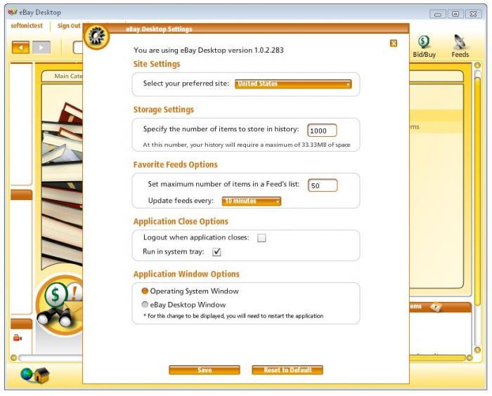 Screenshots Of Ebay Desktop 1 0 2
