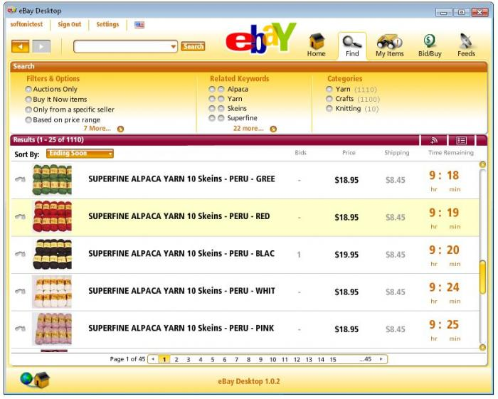 Screenshots Of Ebay Desktop 1 0 2