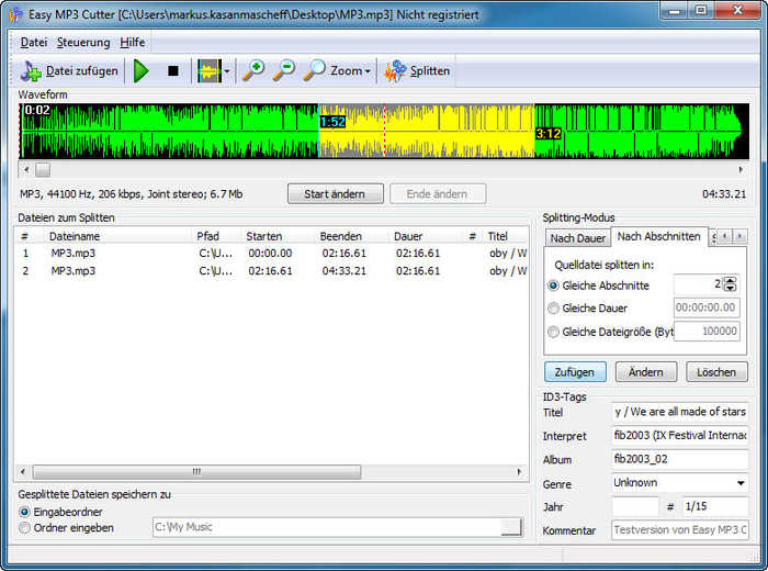 16 best free mp3 splitter tools to split and merge mp3 files.