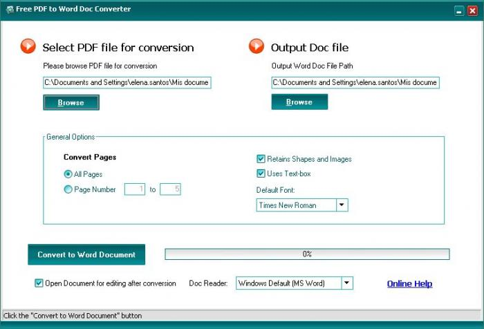 software to convert doc to pdf free
