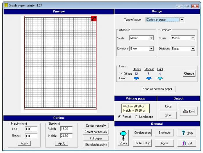 graph paper printer free download