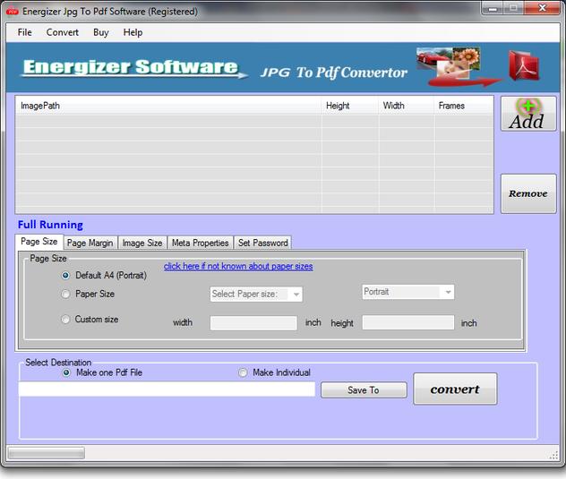 Convert to pdf jpg program