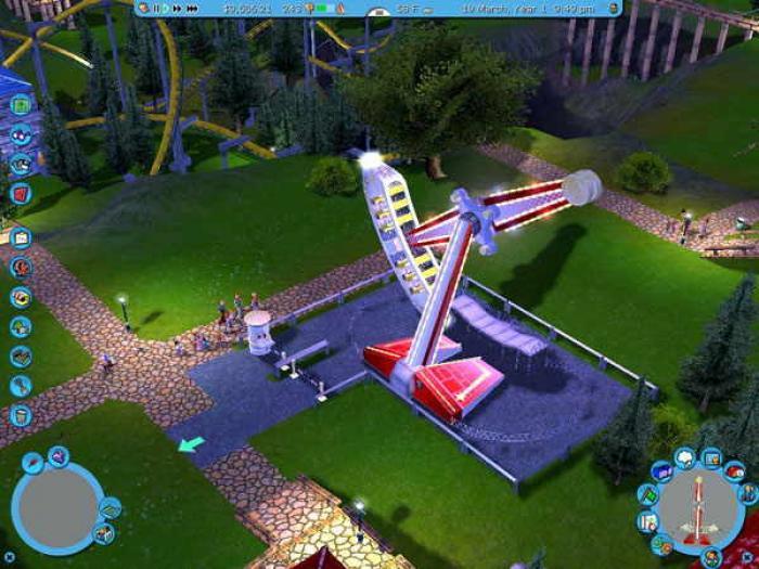 Build your own amusement park games online