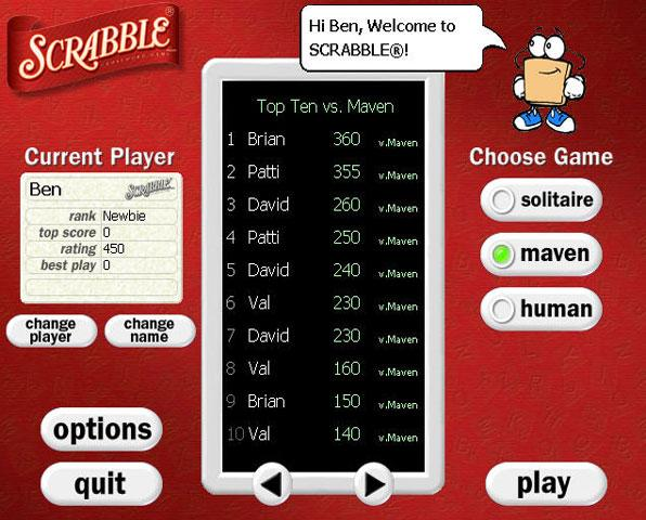 Scrabble play free online scrabble games. Scrabble game downloads.