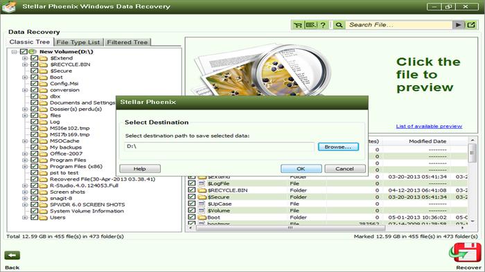 Stellar phoenix windows data recovery free download.