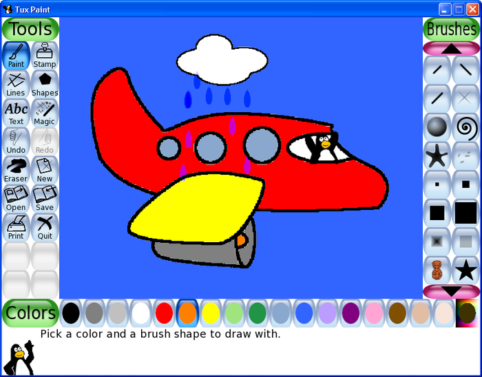 screenshots of tux paint 0921 - Kids Paint Download