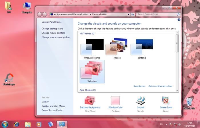 Valentine Windows 7 Theme - Free Download