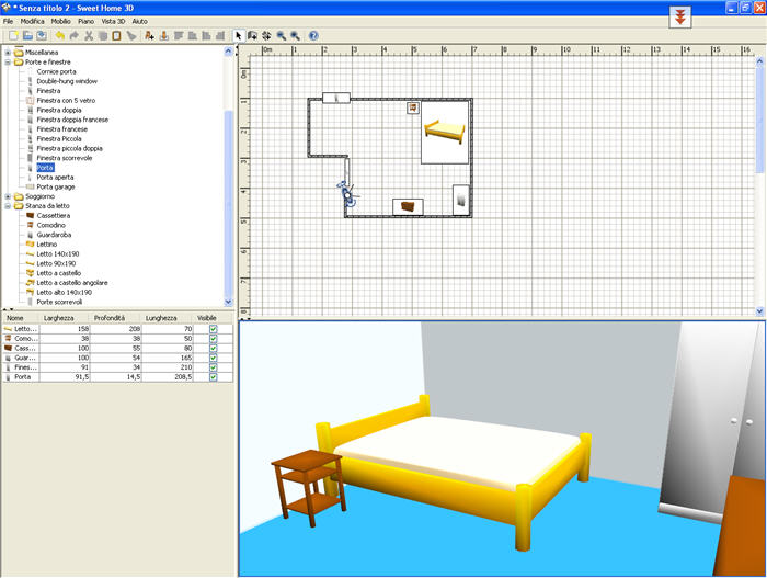 sweet home 3d - download gratis - Arredare Casa Free Software